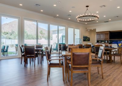 Vista Living Phoenix Assisted Living Camelback View Dining
