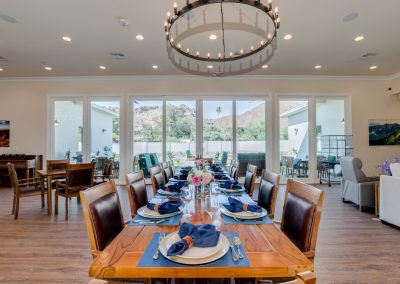 Vista Living Assisted Living Phoenix Arizona Camelback View Dining Area
