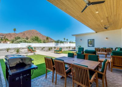 Camelback View Outdoor area Vista Living Assisted Living Phoenix Arizona