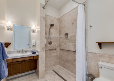 Camelback View shower Vista Living Assisted Living Home
