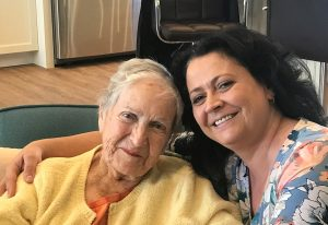 Gabriela with Elizabeth, Vista        Living's incredible first resident